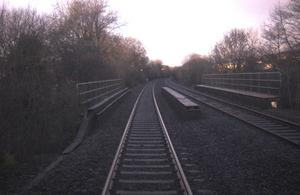 Library image of Maesyfelin bridge (courtesy Network Rail)