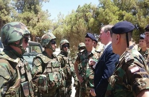 Ambassador Shorter with the Lebanese Armed Forces' 4th Land Border Regiment in Baalbeck