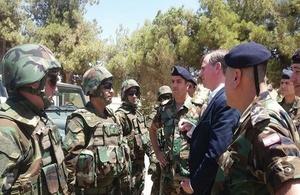 British Amabssador with LAF's 4th Land Border Regiment