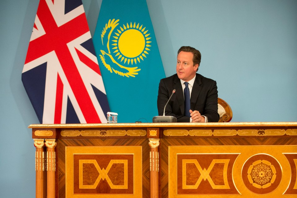 Prime Minister David Cameron at the Press Conference in Kazakhstan
