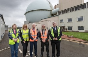 From the left:  DSRL's Sue Thompson, the NDA's Anna MacConnell NDA, Dr Paul Monaghan MP, the MP's Chief of Staff and Mike Brown from the NDA