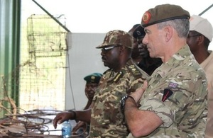 Lt Col Mike Nicholls at handover of Armoury and Secure storage facility  at QENP Uganda
