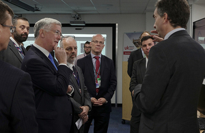 Defence Secretary at Farnborough Air Show.