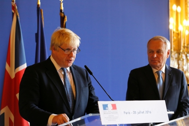 Boris Johnson and French Foreign Minister