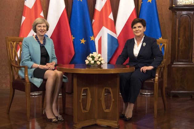 Prime Minister Theresa May with Polish Prime Minister Beata Szydło.