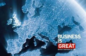 map and Business is GREAT logo