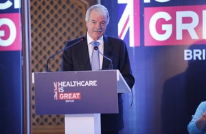 Sir Malcolm Grant speaking during the Smart Healthcare Mission