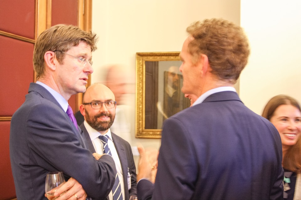 Greg Clarke and the BEIS ministerial team hosted a reception at the Royal Society.