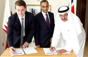 TPP and IIS sign the contract in the presence of the British Ambassador to Qatar