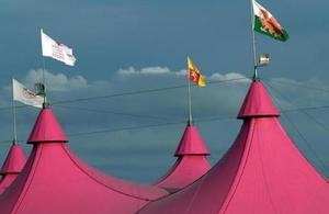 tent tops at Eisteddfod