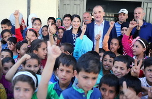 Secretary of State visits a school in the Bekaa running 'catch-up programme' for Syrian students