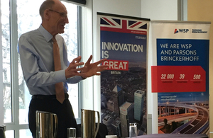 Sir John Armitt speaking in New Zealand