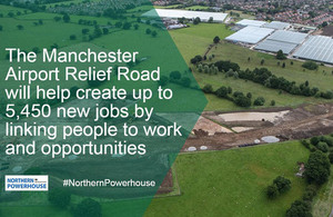 Manchester relief road infographic
