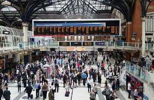 Liverpool Street railway station.
