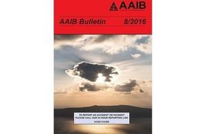 August 2016 AAIB Bulletin
