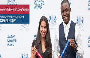 Applications for 2017/ 2018 Chevening Scholarships are now open