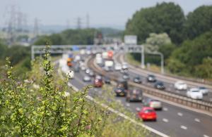 Busy roads in summer
