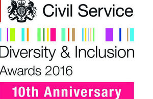 Civil Service Diversity and Inclusion Awards logo 2016