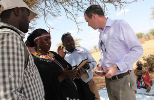 Minister James Wharton meets beneficiaries from DFID's Arid Lands programme. Picture: UK in Kenya