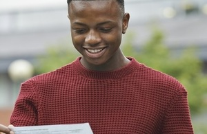 A level student with exam results