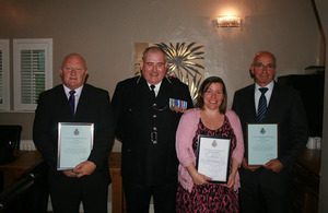 CNC officers and staff commended by Assistant Chief Constable and divisional commanders