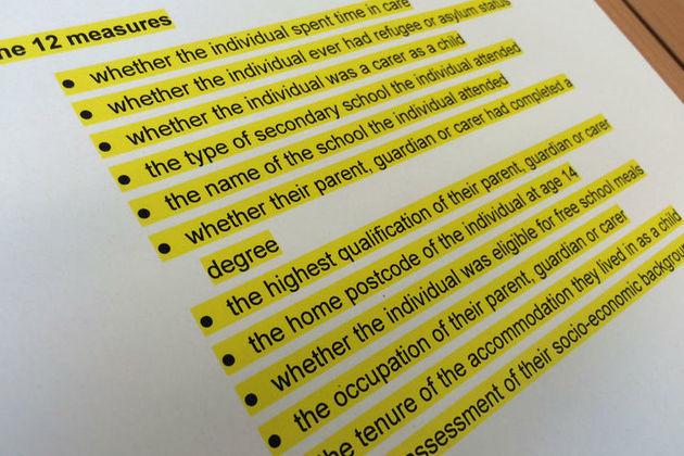12 socio-economic background measures