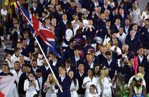 Team GB at the Olympics opening ceremony