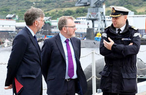 Scottish Secretary David Mundell and UK Government Minister Andrew Dunlop at Faslane