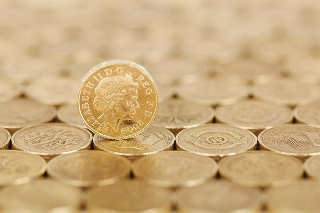 Photograph of pound coins