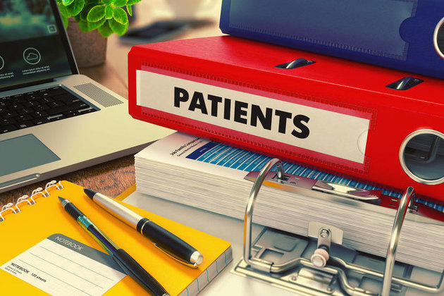 paper files for patients
