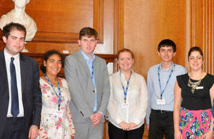 Participants in autism exchange work placement programme