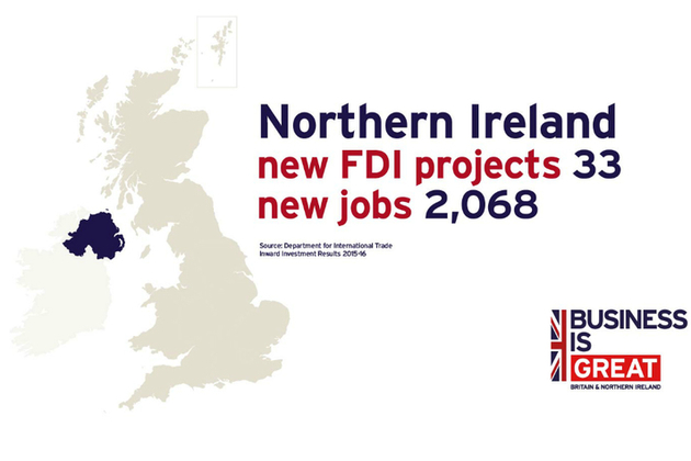 2,068 new jobs across 33 new FDI projects in Northern Ireland