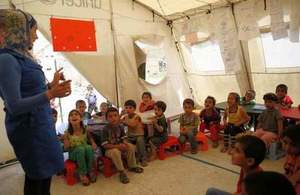 Refugees UNICEF camp in Lebanon