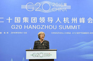 Read the 'G20 Summit, China: Prime Minister's press conference – 5 September 2016' article