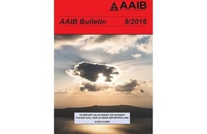 September 2016 AAIB Bulletin