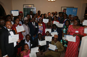 Pre-departure reception for Nigerian Chevening scholars