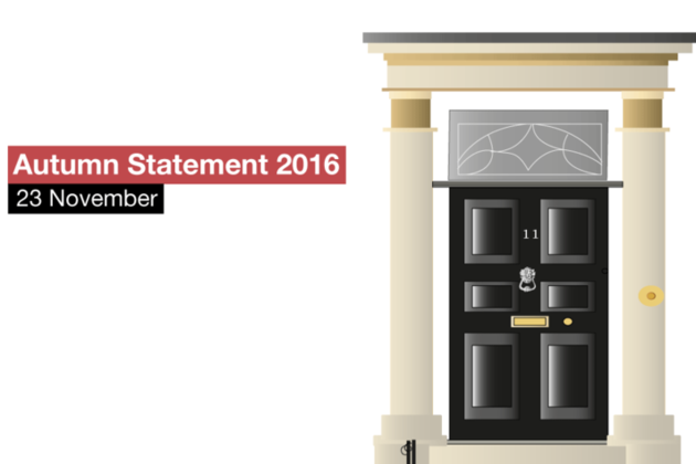 Autumn Statement will be on Wednesday 23 November 2016.
