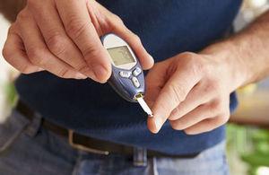 A blood glucose test.