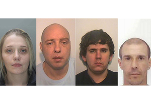 Salford gang custody pictures