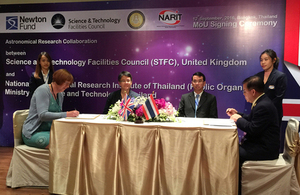 UK-Thai astronomical collaboration research
