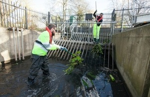 EA teams clearing trash screens in Derby