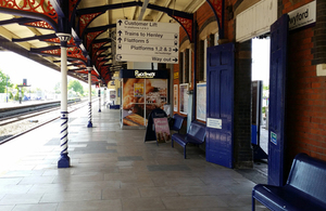 Image showing Twyford station and platform