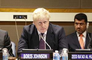 Boris Johnson at UN General Assembly