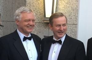 David Davis & Taoiseach Enda Kenny