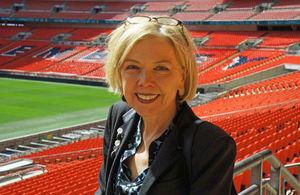 Sue Owen at Wembley Stadium