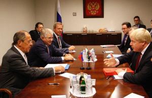 Foreign Ministers Boris Johnson & Sergei Lavrov