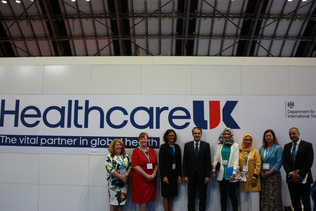International delegates at the Healthcare UK stand
