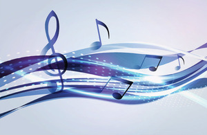 Printed music digital image