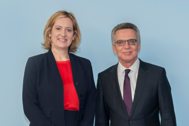 Home Secretary with Germany's Interior Minister in Berlin