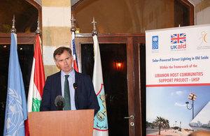 British Ambassador Hugo Shorter in Saida